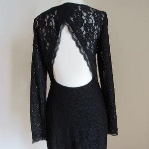 EXPRESS black lace w/ open back detail